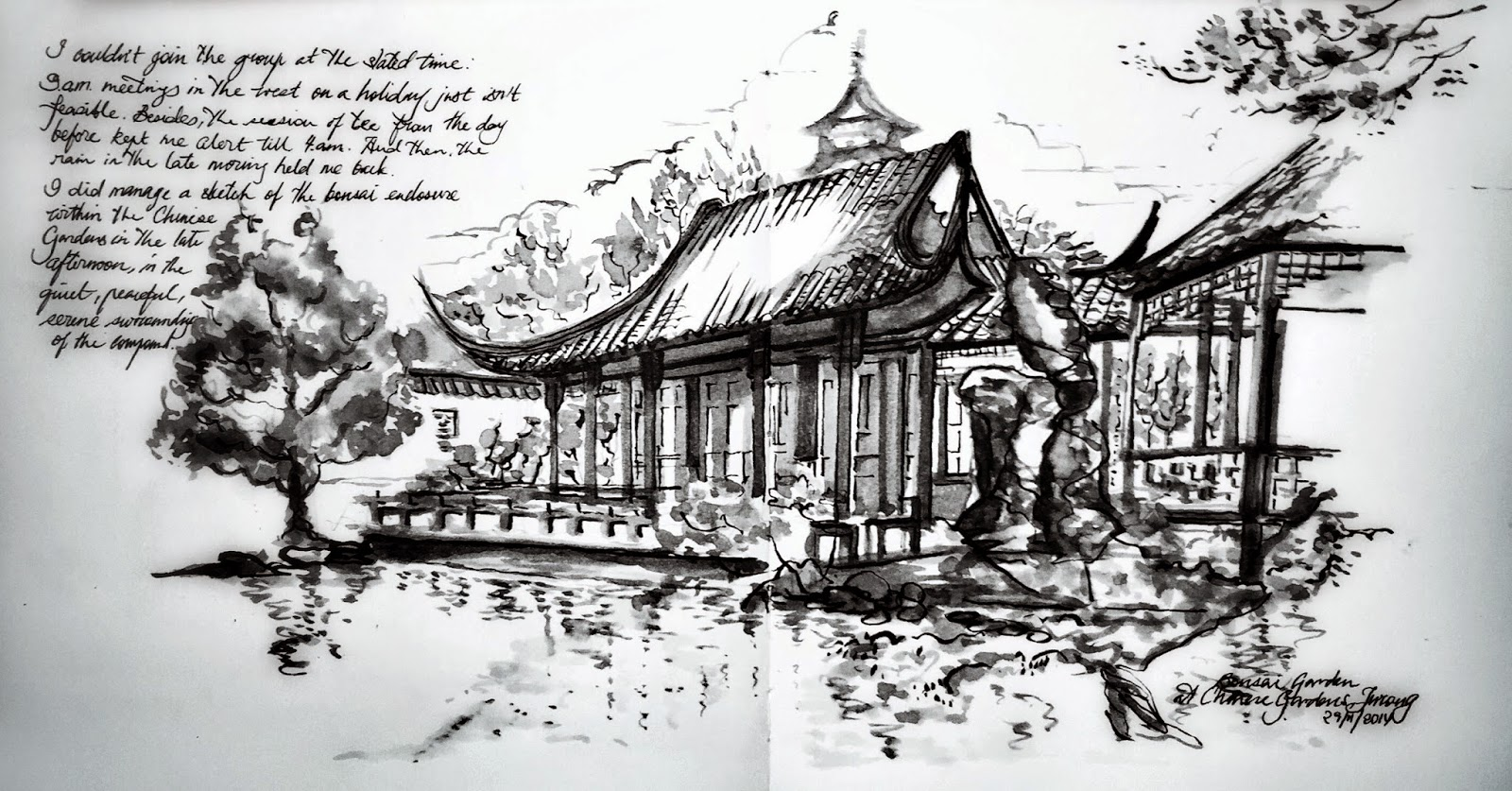 Musings Of A Citi Sketcha A Day At The Bonsai Gardens