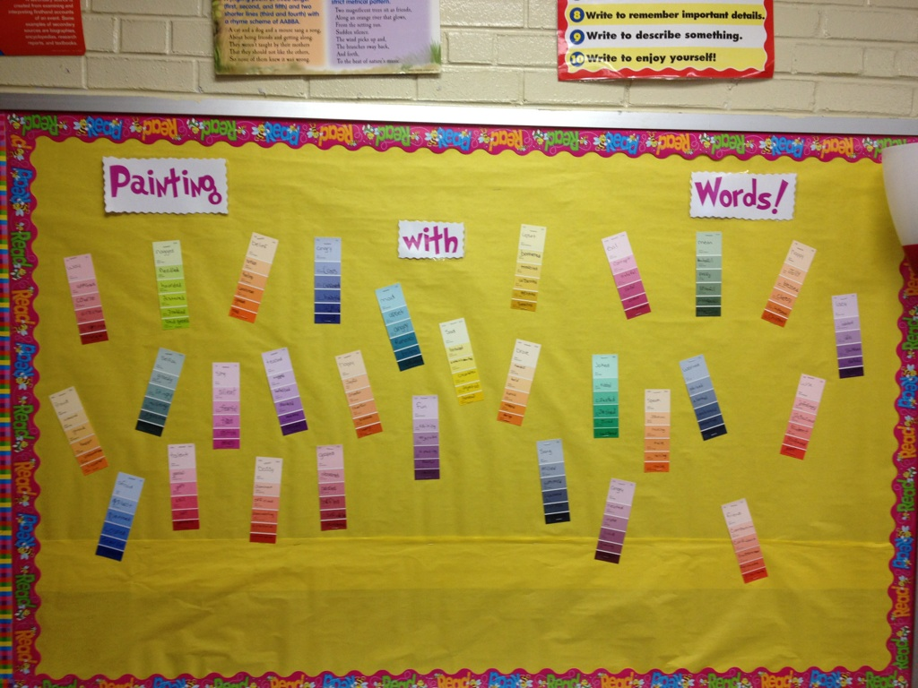 Painting With Words Bulletin Board | Oodles of Teaching Fun
