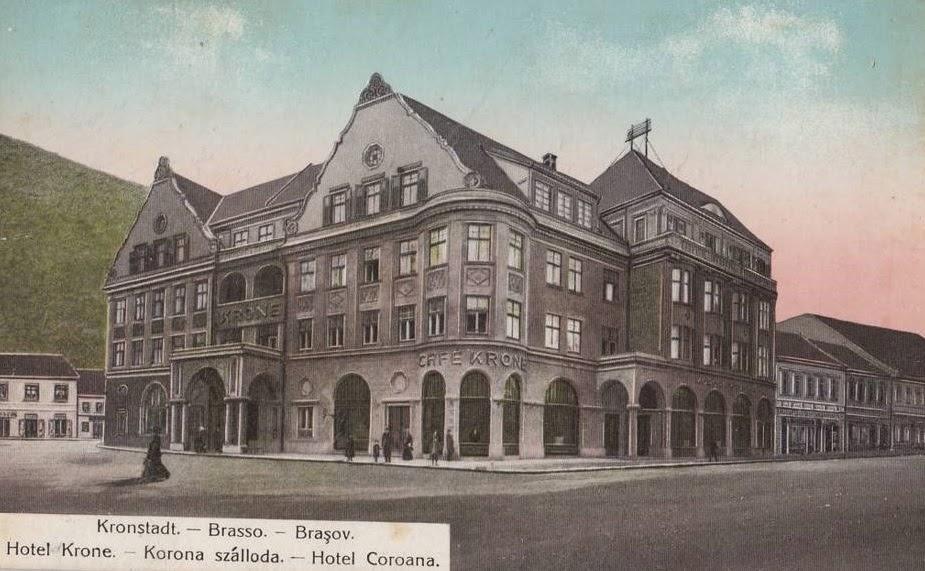 Hotelul Kronstadt din Brasovul de odinioara