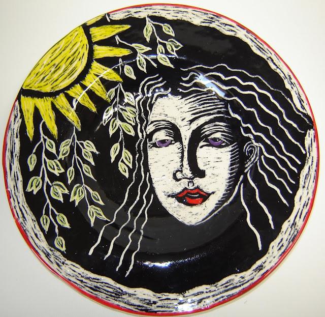 GIRL  WITH LAVENDAR EYES AND SUN