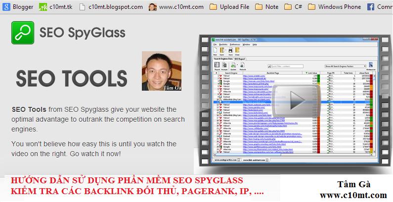 Seo-SpyGlass Kiểm tra từ khóa và backlink đối thủ Seo SpyGlass