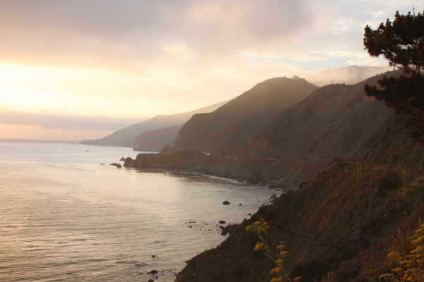 Sunset off of Highway 1 in Big Sur, CA
