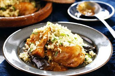 Chicken, harissa and aubergine tagine recipe - how to make chicken ...