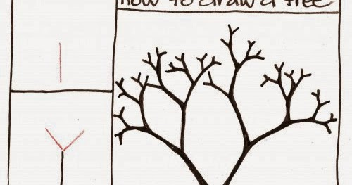 how to draw a willow tree easy step by step