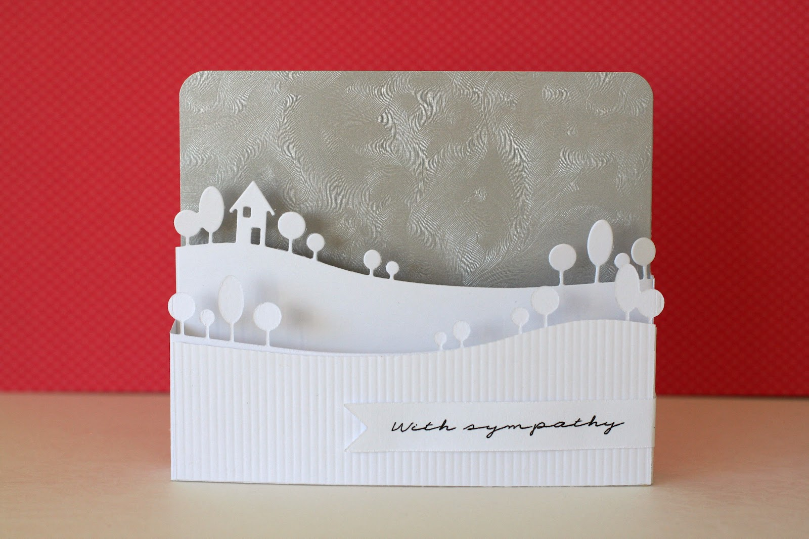 Here s a 3d card inspired by the casology challenge to use white on