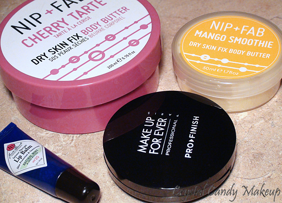 Favoris de janvier! Nip + Fab Body Butter, Jack Black Lip Balm, Make Up For Ever Pro Finish