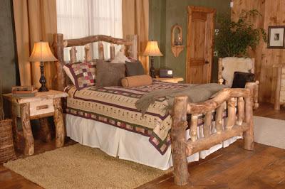Muebles para dormitorios y camas r sticas un encanto for Muebles con troncos