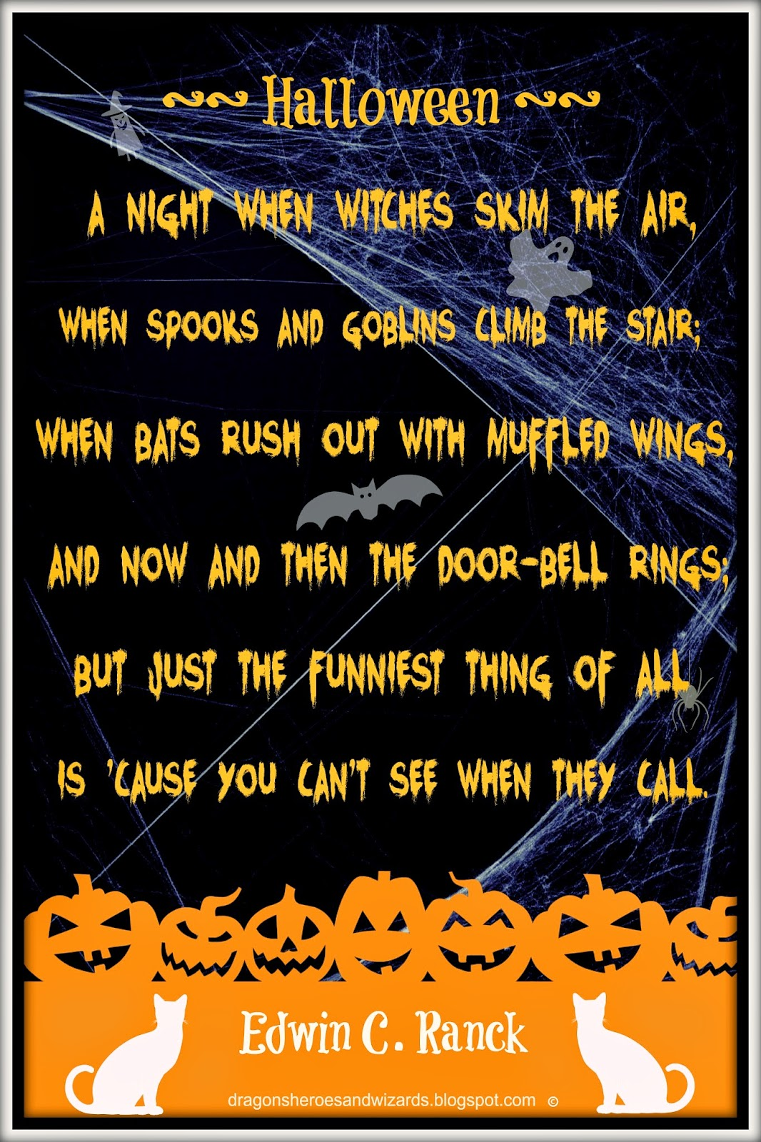Halloween Poem by Edwin C. Ranck ~ Design by Mulluane