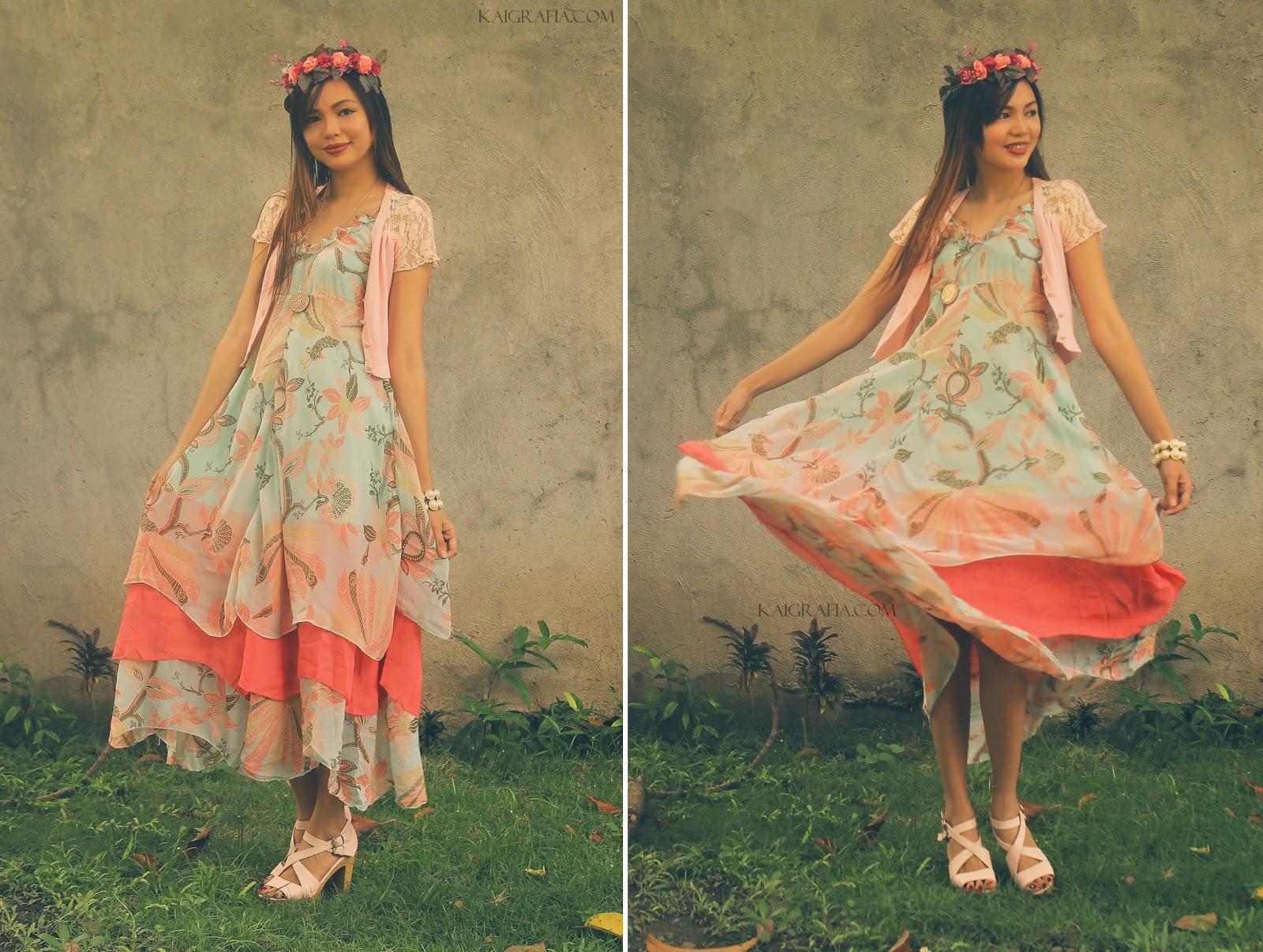 Paisley Floral Dress Pastel