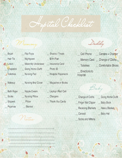 Free Printable Hospital Checklist