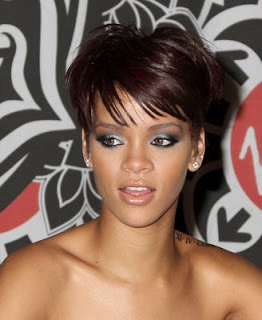 Rihanna short hairstyle with bangs Women Trendy Hairstyles With Bangs 2013