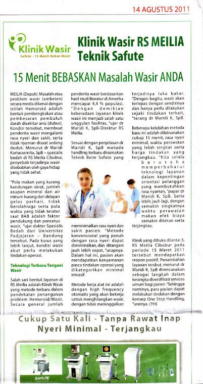 artikel klinik wasir RS Meilia