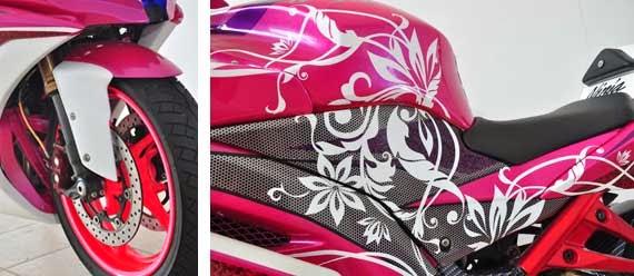 Gambar Modifikasi Kawasaki Ninja 250R Motif Feminim