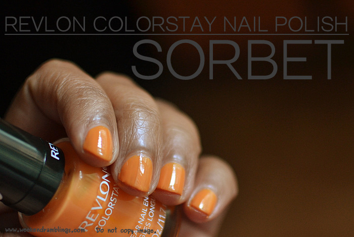 Revlon Makeup Colorstay Longwear Nail Enamel Sorbet 090 Polish Lacquer Beauty Blog Reviews Swatches NOTD