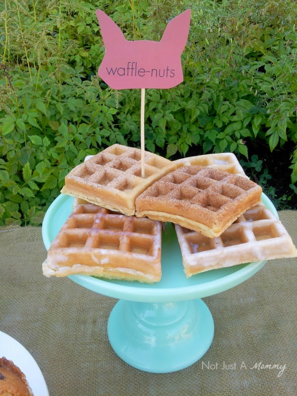Simple Woodland-Themed Brunch for Fall waffle-nuts