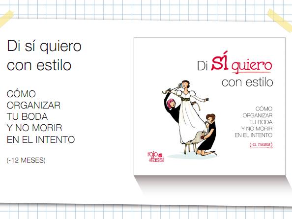 Rojo de Fassi y Mi boda gratis te regalan el libro bodil que tú escojas
