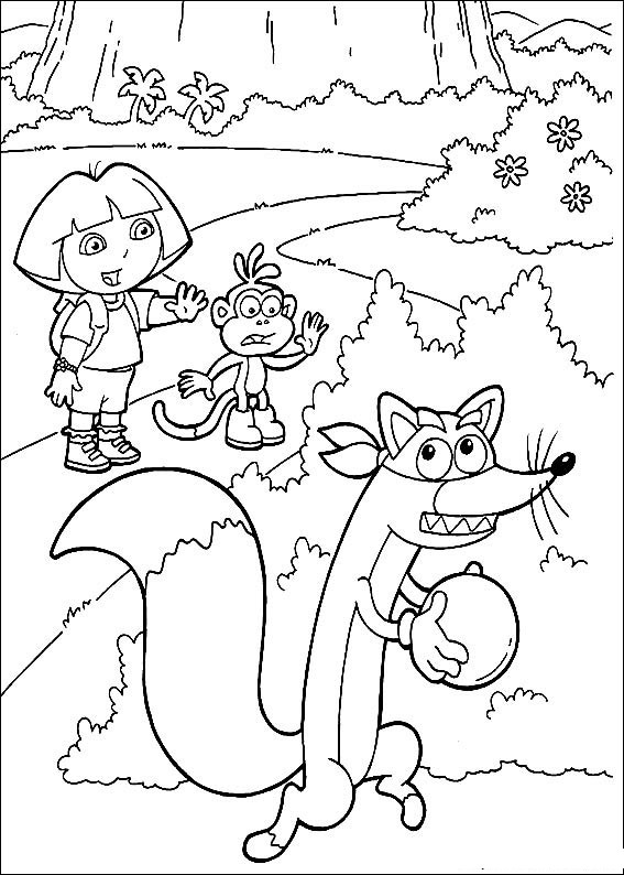 Coloriages enfants coloriage dora l 39 exploratrice - Coloriages dora ...