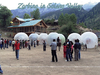 Zorbing and Horse Riding in Solang Valley, Manali