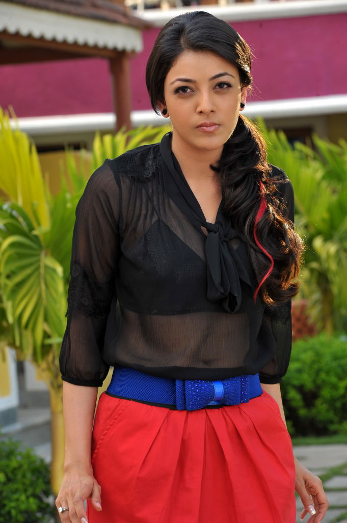 exquisite charming Kajal in black tops