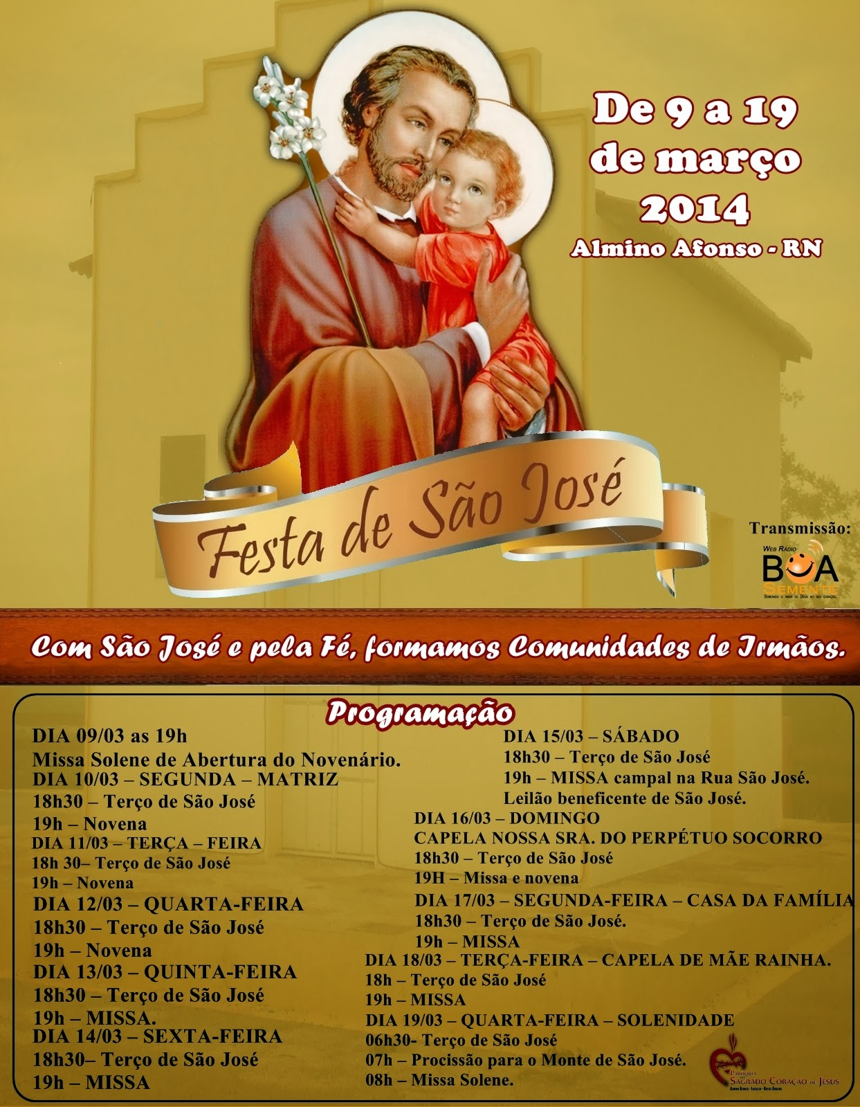 Festa em honra a São José em Almino Afonso - RN