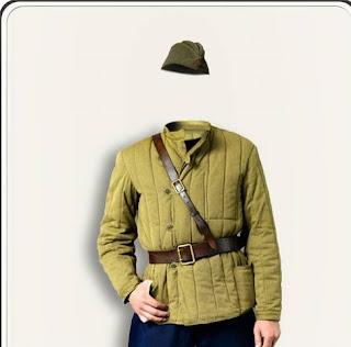 Psd sovyet ordusu kostüm şablonu