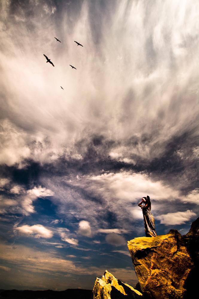 Dziewanna - Bogini dzikiej i wolnej przyrody - interpretacja fotograficzna. fot. Łukasz Cyrus