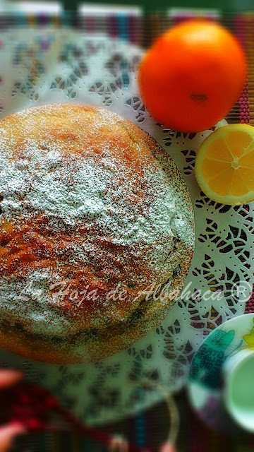 Bizcocho, ricotta, limon, naranja, citricos