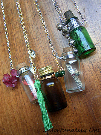 DIY tutorial how to make a bottle necklace