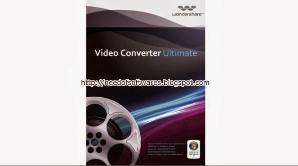 You convert DVD to video. Wondershare Video Converter Ultimate 6.0.3.