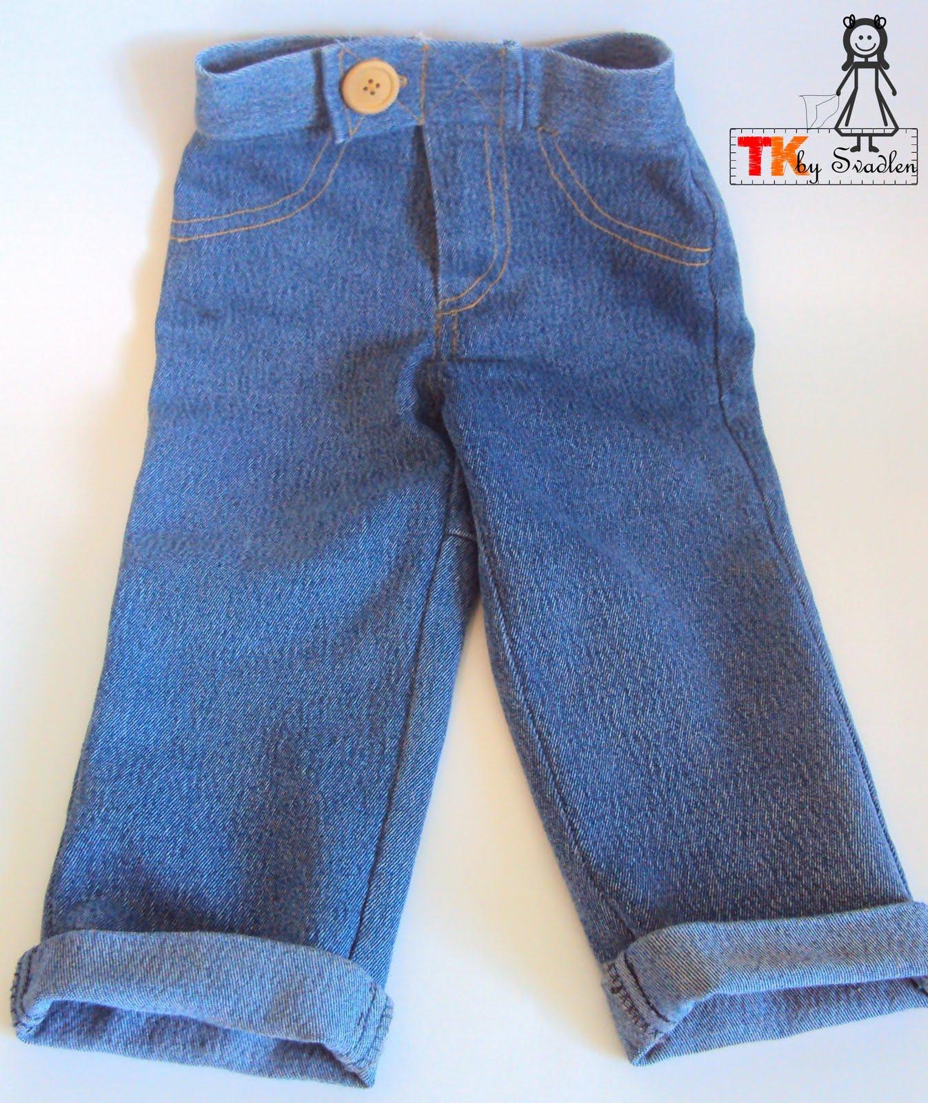 Сшить брюки на мальчика из старых джинс 17