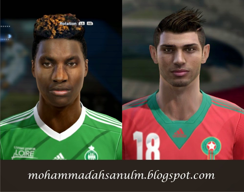 PES 2013 St Maximin Allan and Lazaar Face by bradpit62 & pablobyk