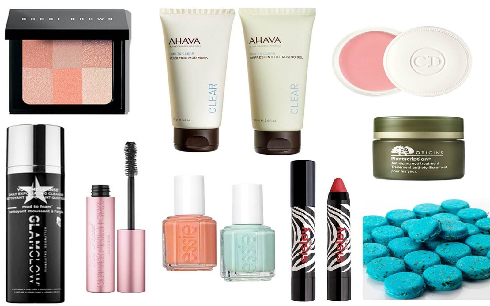 Beauty-Wishlist Frühling 2015 Bobbi Brown, AHAVA, Dior, Origins, GlamGlow, TooFaced, Essie, LUSH