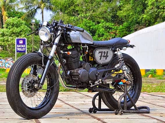 Modifikasi Honda Tiger Cafe Racer