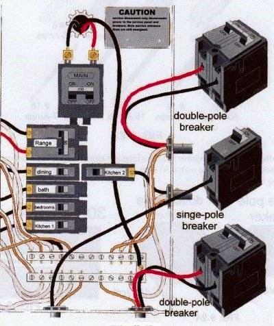 The amp volt 2 pole 3 wir