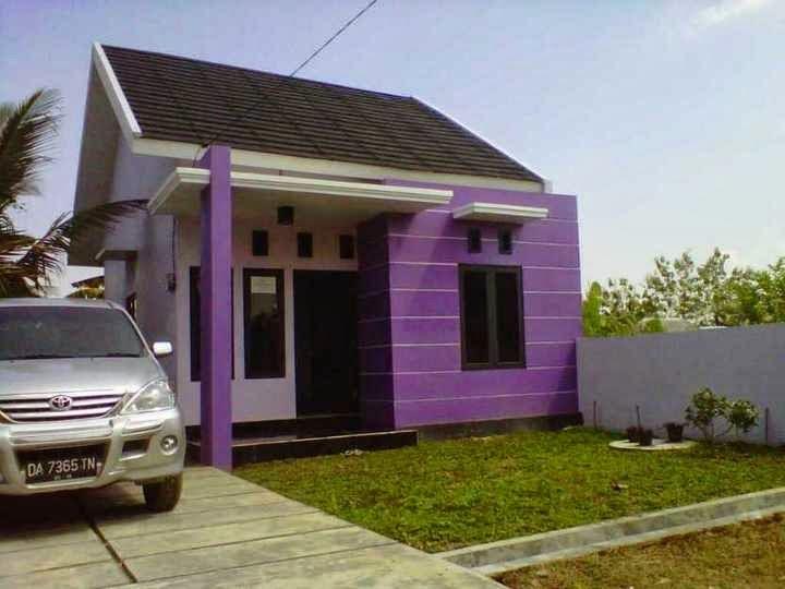 cat rumah ungu putih