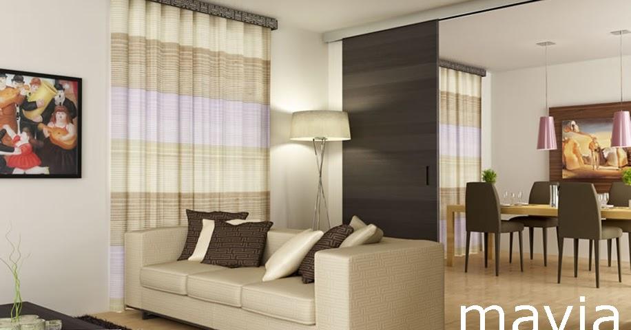 Arredamento di interni rendering interni 3d mobili - Divano e tavolo da pranzo ...