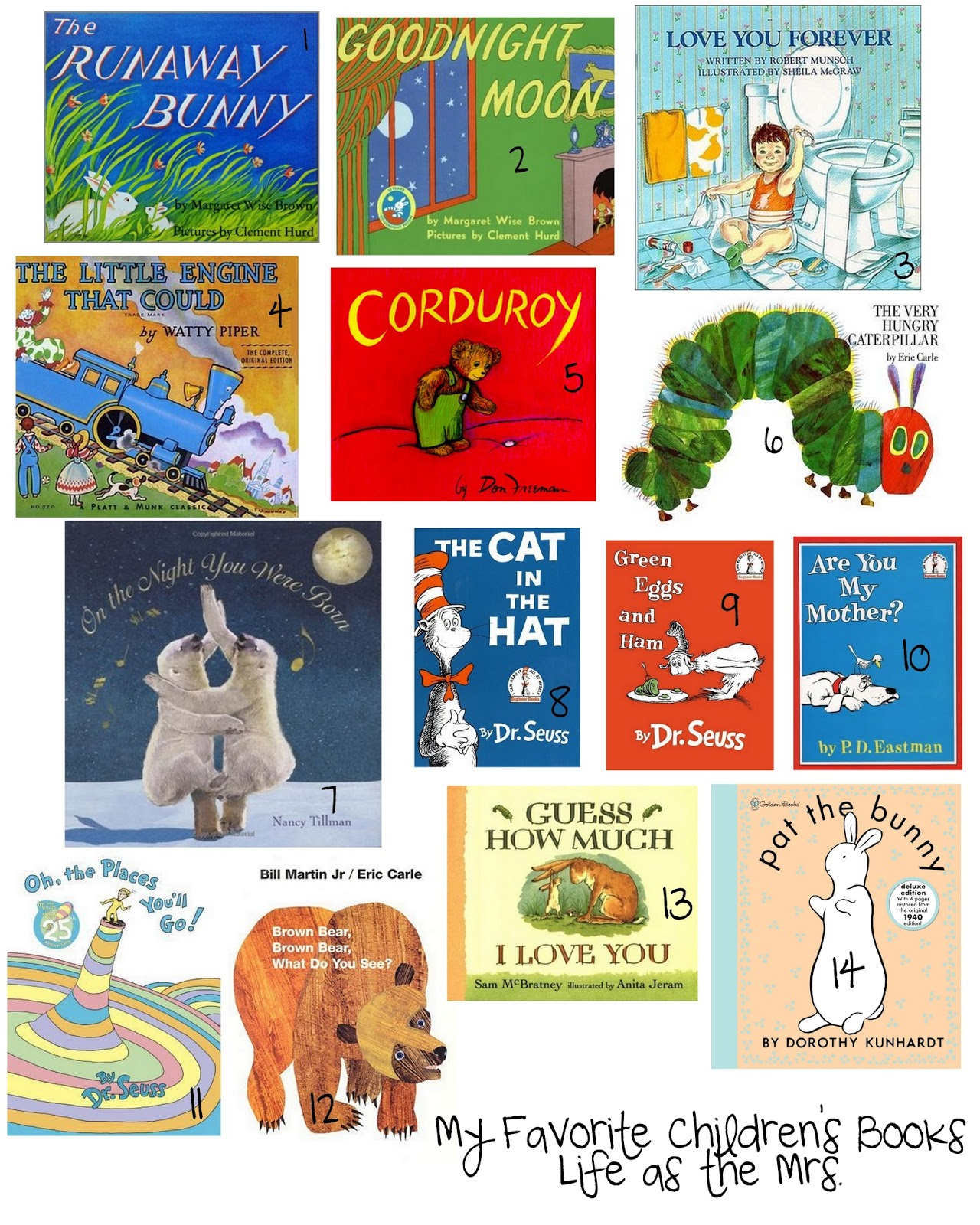 Life As The Mrs Thoughts For Thursday My Favorite Children S Books