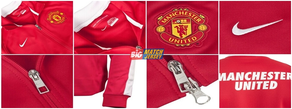 Detail Jaket GO Nike Mant. United (MU) Red Official 2014 - 2015
