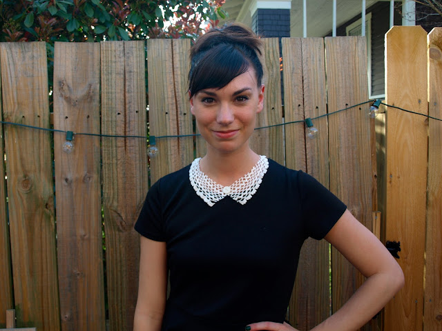 DIY Doily Collar Necklace