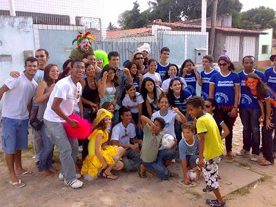Juventude Missionária e as crianças na comunidade de Nossa Senhora Aparecida, em Natal/RN