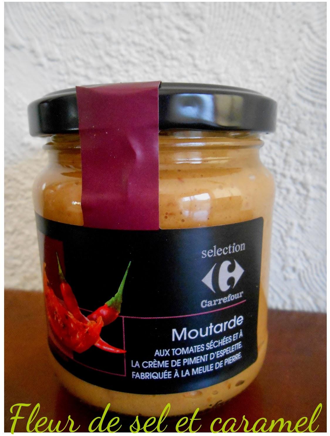 moutarde aux tomates séchées et crème de piment d'Espelette