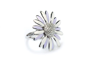 Enamel fine jewelry Daisy ring