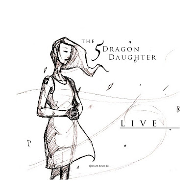 A sketch of the daughter, standing, waiting for her lover to come.