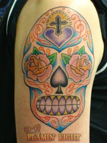 sugar tattoo,tattoo,armband tattoo