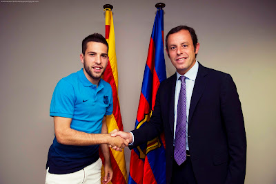 Jordi Alba - F.C Barcelona Wallpapers 2012