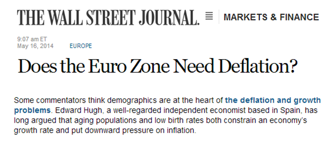Is Deflation A Problem For Europe?