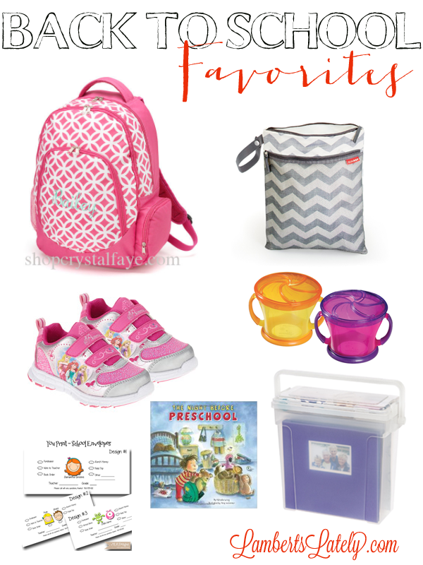 Back to School Favorites - great list of items for back-to-school with a preschooler or a toddler!