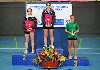 Podio juvenil individual femenino 2013