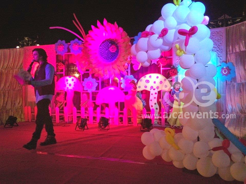 Aicaevents india sunflower theme birthday party for 21st b day decoration ideas