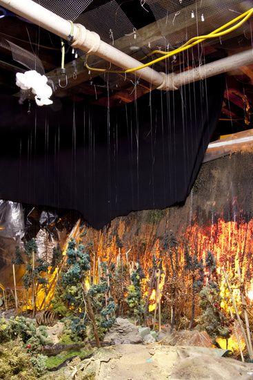 Matthew Albanese fotografia set designer maquetes modelos miniaturas hiper realistas Incêndio na floresta - maquete e cenário